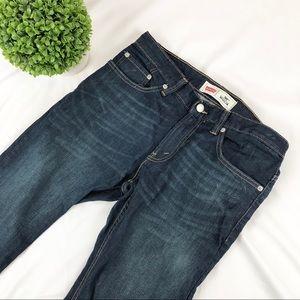Levi's 505 dark wash straight leg jeans 10 husky